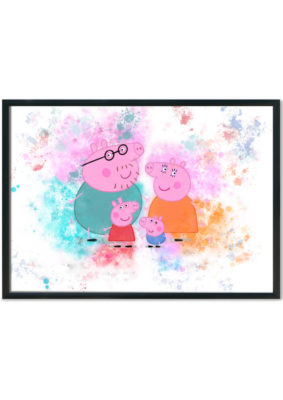 Peppa Pig Family Splash Print