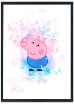 George Pig Splash Print