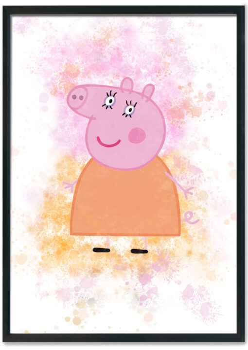 Mummy Pig Splash Print