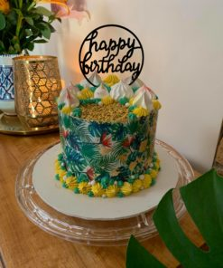 Tropical Leaves Cake Wrap