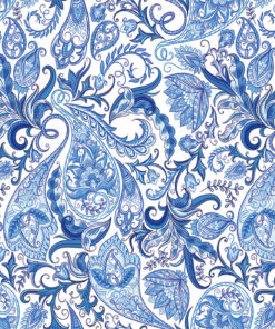 Blue Paisley Pattern