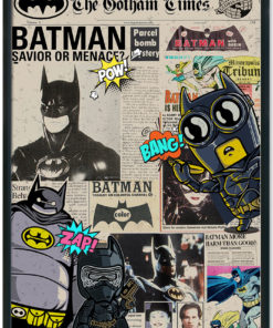 Newspaper-Batman-Kids-Print