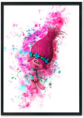 Trolls Poppy splash print